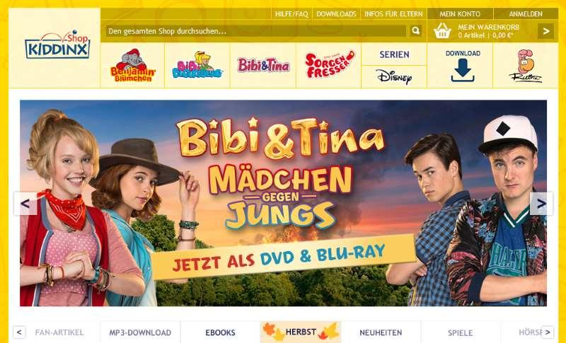 Homepage Kiddinx-Shop.de