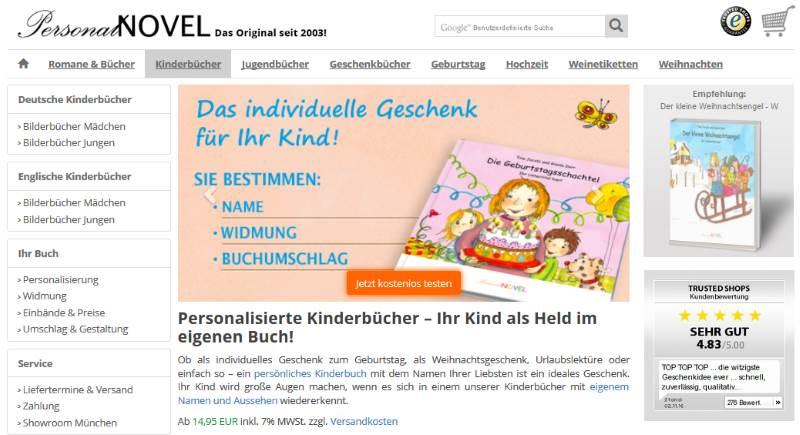 Homepage PersonalNovel.de