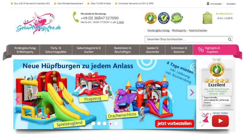 Homepage Geburtstagsfee.de