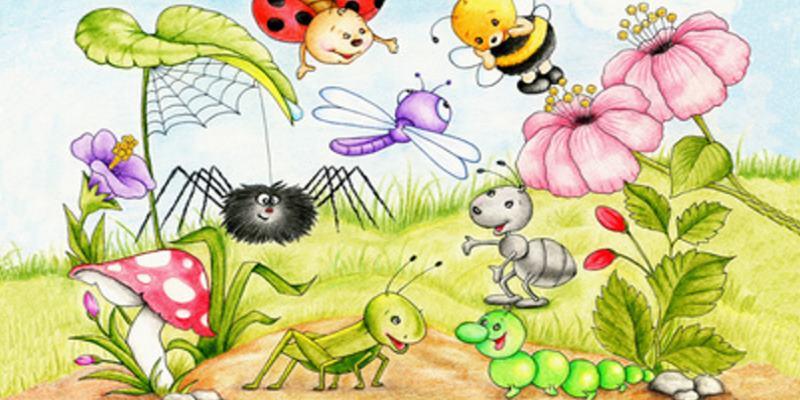 Lustige Insekten Party